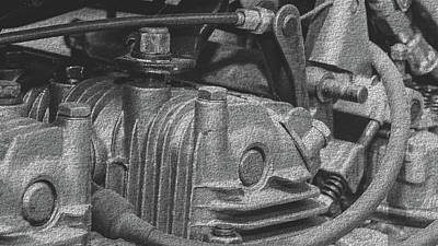 Photograph - Close Up Of Vintage Car Engine A Fine Art by Jacek Wojnarowski