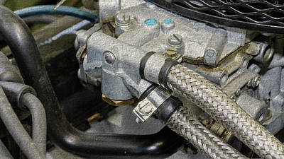 Photograph - Close Up Of Vintage Car Engine B Fine Art by Jacek Wojnarowski