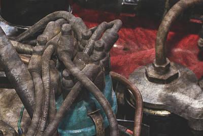 Photograph - Close Up Of Vintage Car Engine C Fine Art by Jacek Wojnarowski
