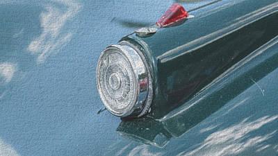 Photograph - Close Up Of Vintage Car Headlight Fine Art by Jacek Wojnarowski