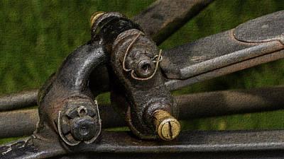 Photograph - Close Up Of Vintage Car Parts Fine Art by Jacek Wojnarowski
