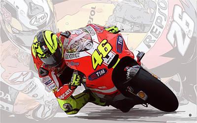 Digital Art - Close Up Racing by Gary Grayson