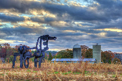 Photograph - Close Up The Iron Horse Farm Scene Art by Reid Callaway
