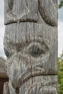 Photograph - Close Up Totem Pole by Patricia Hofmeester