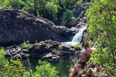 Photograph - Close-up View From Above At Edith Falls, Top End, Australia. by Daniela Constantinescu