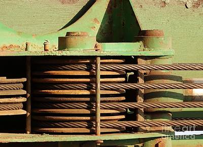Photograph - Close Up View Of Construction Equipment by Yali Shi