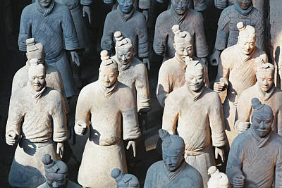 Infantryman Photograph - Close Up View Of Terracotta Warriors by George Oze