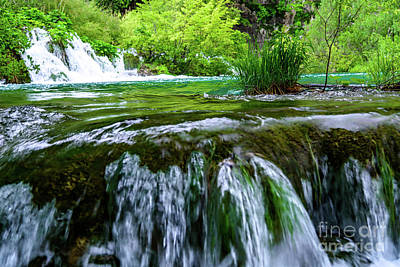Photograph - Close Up Waterfalls - Plitvice Lakes National Park, Croatia by Global Light Photography - Nicole Leffer
