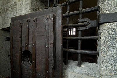 Close View Of Heavy Door To A Cell Art Print by Todd Gipstein