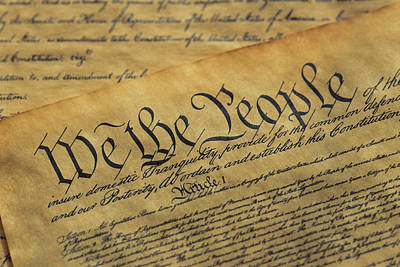Close View Of The Declaration Art Print by Todd Gipstein