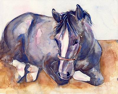 Gray Horses Photograph - Close Your Eyes by Maria's Watercolor