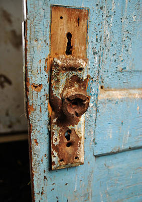 Old School House Photograph - Closed Blue by Empty Wall