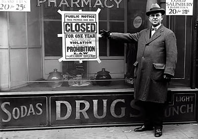 Photograph - Closed By Prohibition C. 1925 by Daniel Hagerman