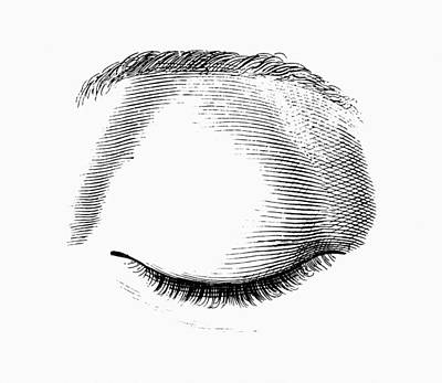 Closed Eye Art Print