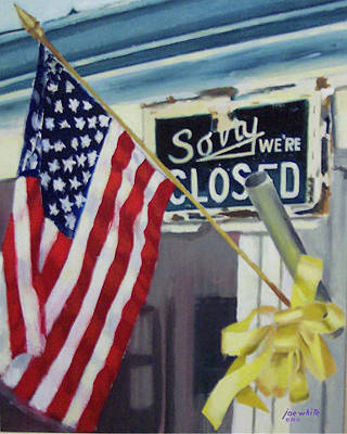Painting - Closed For Business by Joe White
