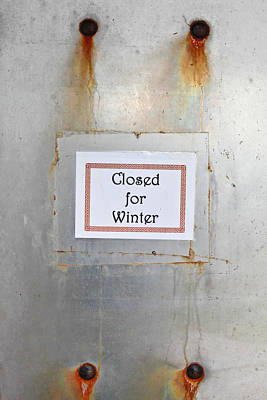 Closing Photograph - Closed For Winter by Tom Gowanlock