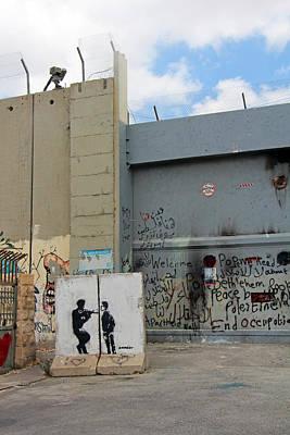 Separation Painting - Closed Gates by Munir Alawi