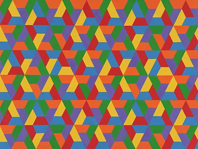 Painting - Closed Hexagonal Lattice by Janet Hansen