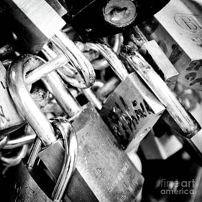 Locks Photograph - Closed Locks Padlocks On The Saint Angelo Bridge Ponte Sant Angelo Rome Italy by Andy Smy