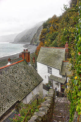 Clovelly Coastline Art Print by RKAB Works