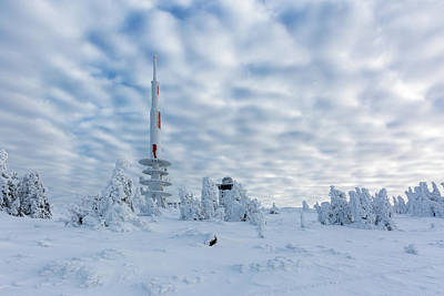Photograph - Closer To The Sky - Brocken Peak In Winter by Andreas Levi