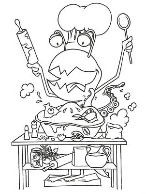 Closet Monster Baking Art Print