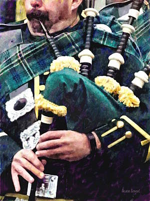 Photograph - Closeup Of Bagpiper by Susan Savad
