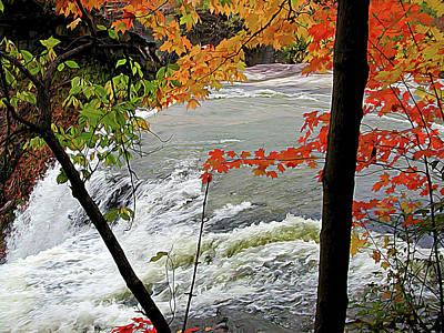 Photograph - Closeup Of Falls In Autumn by Linda Carruth