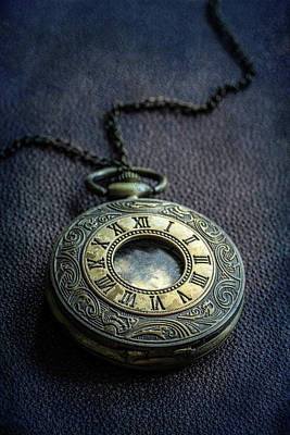 Photograph - Closeup Of Golden Ornamented Pocket Watch by Jaroslaw Blaminsky