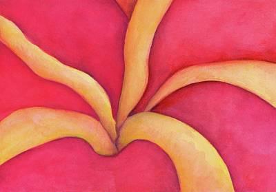 Closeup Of Red Rose Art Print