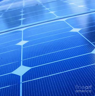Closeup Of Solar Panels Art Print