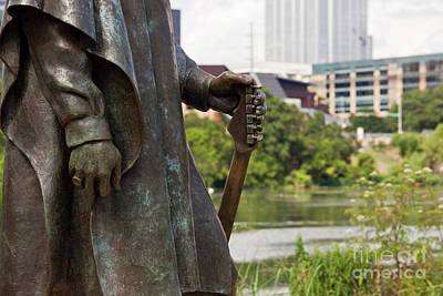 Nautical Animals - Closeup of the Stevie Ray Vaughan statue located on Town Lake by Herronstock Prints