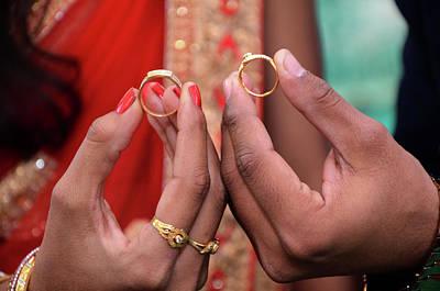 Kalash Photograph - Closeup Of Wedding Rings  by Shilpa Panchal
