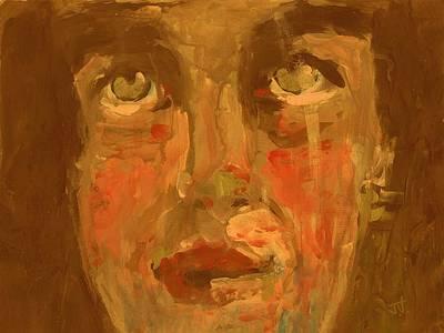 Painting - Closeup Portrait by Jim Vance