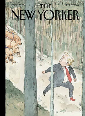 President Drawing - Closing In by Barry Blitt
