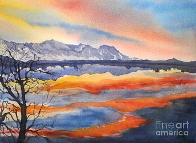 Closing Of The Day At Farmer's Pond Art Print