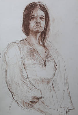 Drawing - Clothed Model by Harry Robertson