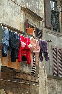 Photograph - Clothes Hanging by Valentino Visentini