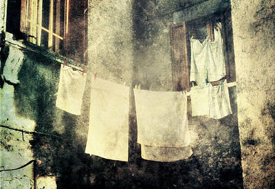 Photograph - Clothes Hanging by Vittorio Chiampan