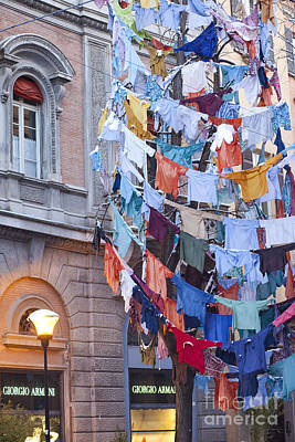 Bologna Photograph - Clothes In The Street by Andre Goncalves