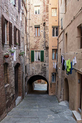 Photograph - Clothes Line In Siena Italy  by John McGraw