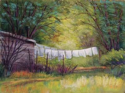 Wall Art - Pastel - Clothesline by Candy Mayer