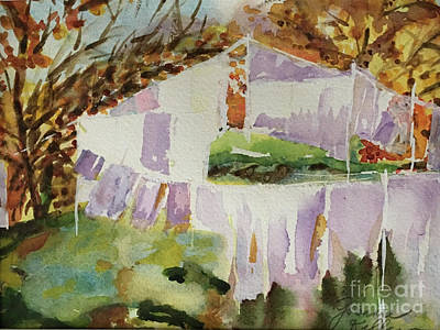 Painting - Clotheslines  by Joanne Killian