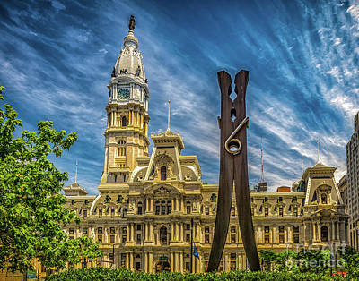 Photograph - Clothespin And City Hall by Nick Zelinsky