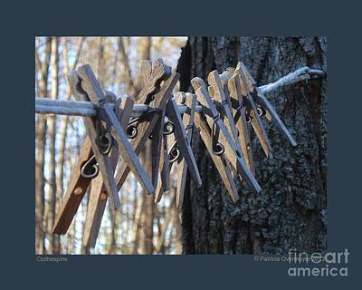 Photograph - Clothespins by Patricia Overmoyer