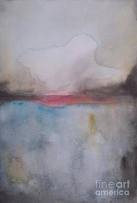 Wall Art - Painting - Cloud Over The Lake by Vesna Antic