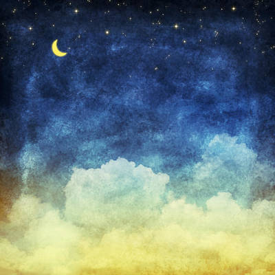 Cloud And Sky At Night Art Print