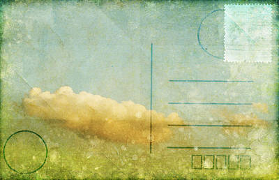 Address Photograph - Cloud And Sky On Postcard by Setsiri Silapasuwanchai