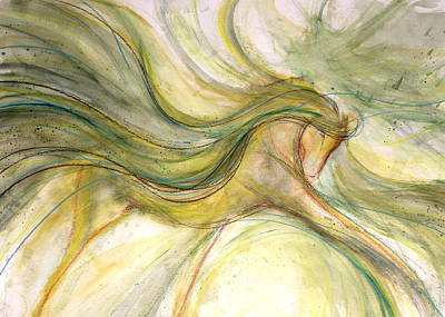 Sporthorse Mixed Media - Cloud Angel by Jennifer Fosgate