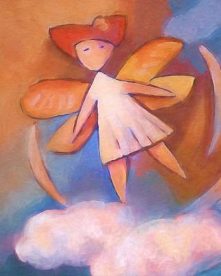 Painting - Cloud Angel by Lutz Baar